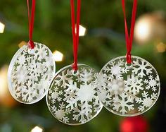 49 best Christmas Etched Glass Ornaments images on Pinterest ...