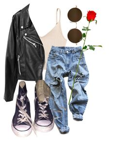 """""""go on grab your hat and fetch a camera"""" by qimmig on Polyvore featuring Levi's and Converse"""