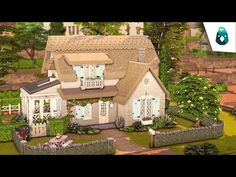 Sims 4 House Design, Sims House, Cottage Living, Cottage Homes, Sims 4 Family, Contemporary Cottage, Sims 4 Build, The Sims4, Sims Cc