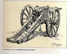 French; Line Infantry, Regimental Artillery, an Austrian Gun de 'Trois'