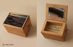 Personalized wooden music box. do you want to merry me?  Scatolina carillon personalizzata. Mi vuoi sposare?