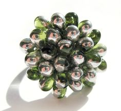 Perfect #handmade #ring for the #Holidays! :)  Silver Goose Berry Ring  -  Special Edition by Kirameku - $13.50