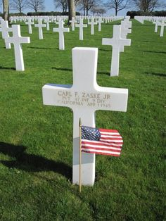 Private Carl F. Zaske Jr. U.S. Army 47th Infantry Regiment, 9th Infantry Division  Entered the Service From: California  Service #: 39563501 Date of Death: April 1, 1945 World War II Buried: Plot J Row 16 Grave 4 Netherlands American Cemetery Margraten, Netherlands
