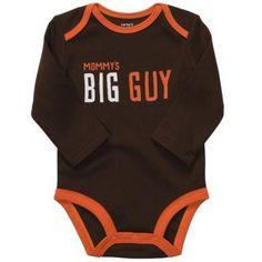 Carters Baby Boys Long Sleeve Slogan Bodysuit Onesie Brown 12M
