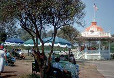 Disneyland Bandstand 1955 - photo by Bill Cotter
