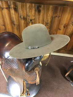 "Greeley hat works 5"" brim Haden  big spur hat co"
