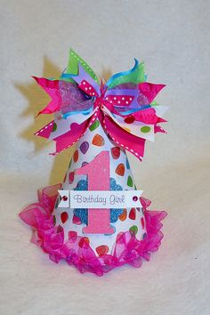 Gum Drop Sweet Shop Birthday Party Hat for Christmas gingerbread or sweet shop party