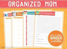 Back-to-school organizer printables for mom #backtoschool