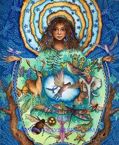 Art Paintings, Original Paintings, Wolf Spirit, Earth Spirit, Goddess Art, Earth Goddess, Spirited Art, Mystique, Pop Surrealism