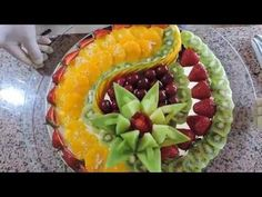 Delicious Fruit Center, how you make / Centro Fruta - By J.Pereira Art Carving Fruits and Vegetables - YouTube