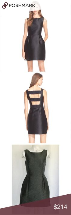 """HOST PICK Kate Spade Flirty Back Mini Dress Night Out HP by @cmsblaz 1/19/18Measures about 34.5"""" in length, 17"""" across the armpits and 14"""" across the waist.  Bateau neck, trio of bows down the open back, hidden side zipper, lined.  90% polyester 10% Silk.  Dry clean.  No trades. kate spade Dresses Mini"""