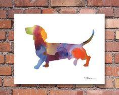 Dachshund Art Print Sausage dog illustration by bryonyfripp
