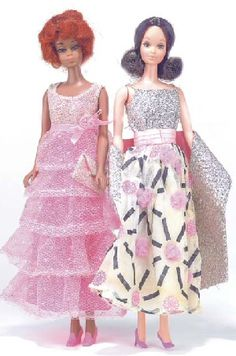 Vintage Barbie 1969 I HAD these dresses! Oh how I loved them!
