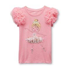 Toughskins Girl's Embellished Top - Ballerina - Kids - Kids' Clothing - Girls' Clothing - Girls' Shirts - Girls' T-Shirts Baby Ballet, Ballerina, Embellished Top, Girls Tees, Kids Wear, Diy Clothes, Kids Shirts, Baby Dress, Kids Outfits