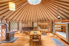 Maine is isolated in the northeast corner of the United States, but there is plenty of hidden beauty among its rocky coastline and pristine wilderness. Here are 10 great yurt vacation rentals in Ma. Yurt Interior, Yurt Home, Yurt Living, Lopez Island, A Frame Cabin, Flight And Hotel, Cabin Plans, House Plans, Kit Homes