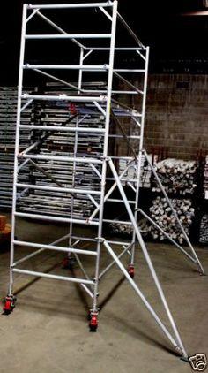 Aluminium-Mobile-Scaffold-Tower-W37-Scaffolding-Platform-Ht-3m-L-2-6m-W-1-3m