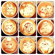 Awww! This is super cute and cool. I want lattes like these >.< The coffee cats of Studio Ghibli..