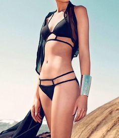 Caged Bikini Set- Black from Trail of Glitter