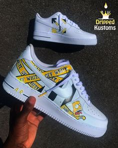 Custom Painted Shoes, Custom Made Shoes, Custom Sneakers, Orange Jordan, Air Force One Shoes, Hype Clothing, Kawaii Shoes, Nike Air Shoes, Hype Shoes