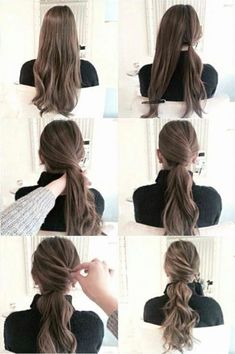 New Matte Ombre ideas for diversifying classic brown and blond ombre hair - Alles - Wedding Hairstyles Up Hairstyles, Pretty Hairstyles, Wedding Hairstyles, Easy Work Hairstyles, Pinterest Hairstyles, Ponytail Hairstyles Tutorial, Easy Updos For Long Hair, Updo Diy, Simple Hairdos