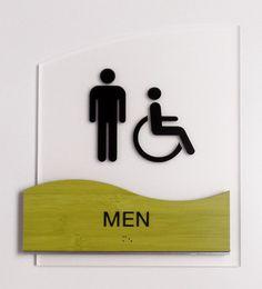 Fusion ADA Interior Restroom ID Sign.  #signage #wayfinding