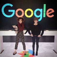 lindseystirlingDid someone call for superheros. #googleheadquarters