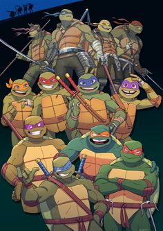 As you can see in the top left corner there is four shadows of the turtles so either it's the original version or there is a new version coming out :) :) :) :)