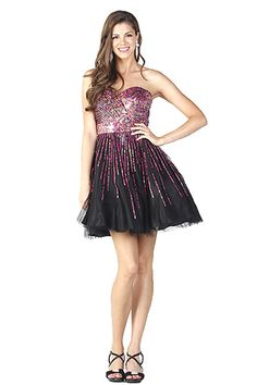 $459.00 MESH COCKTAIL DRESS WITH SEQUINS RUNNING THROUGH THE BUST, EMPIRE WAISTLINE, AND DOWN THE SKIRT OF THE DRESS.