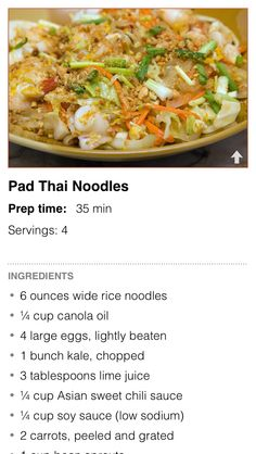 Pad Thai Noodles! Our favorite Dinner Decider recipe from last week. Quite a yummy vegetarian meal. --Kati at Cozi Test Drive Dinner Decider for free: https://itunes.apple.com/us/app/cozi-dinner-decider/id567798458?mt=8
