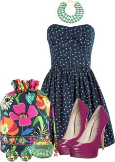 """florals, polka dots, oh my!"" by sheavschaaf on Polyvore"