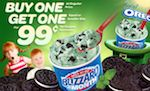 Until March 25, 2012, Dairy Queen is offering one Blizzard at 99 cents, when you buy one of equal or greater value at full-price. No coupon is required.