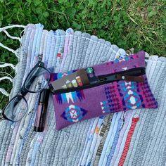 Large Tote Bag  Southwestern Chimayo Wool Leather  Rosebud Originals