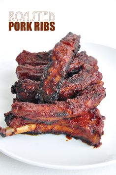 Roasted in a flavorful sauce mixed with honey, tomato paste, ground mustard, garlic and soy sauce, these pork ribs are seriously to die for!