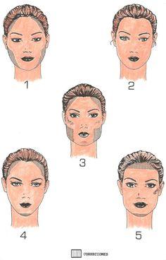 Tipos de Rostros y sus Correcciones Tips Belleza, Hair Beauty, Make Up, Movie Posters, Bella, Color, Faces, Hairdos, Spotlight