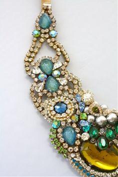 Art Deco floral jewelry