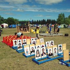 Giant Guess Who at The Winnipeg Folk Festival.: