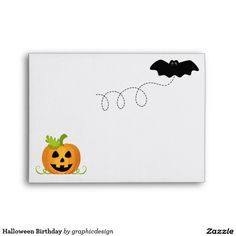 Sold. #Halloween #Birthday Envelope Available in different products. Check more at www.zazzle.com/graphicdesign