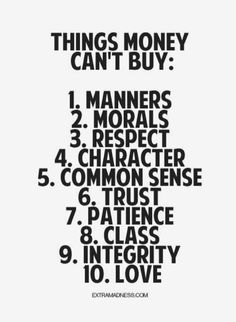 #things #Money can't #buy..