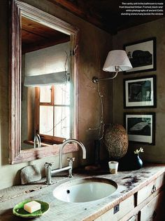 House and Garden UK / Andreas von Einsiedel {vintage rustic traditional primitive modern bathroom} by recent settlers, via Flickr