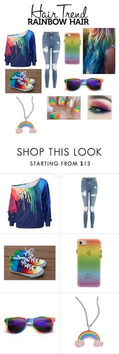 """""""Rainbow Hair Trend"""" by moonshine16 ❤ liked on Polyvore featuring Topshop, Rebecca Minkoff, Gucci, hairtrend and rainbowhair"""