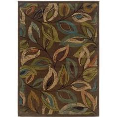 @Overstock - Add visual interest to your home decor with this contemporary abstract rug. The rug is machine-woven and features an intricate leaf pattern in green, blue, beige and orange. The brown background pulls the look together. http://www.overstock.com/Home-Garden/Brown-Abstract-Rug-710-x-10/5543419/product.html?CID=214117 $213.99