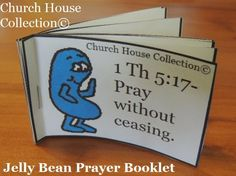 Jelly Bean Prayer Booklet Cutout For Kids for Easter. By Church House Collection©  #Jelly #Beans #jellybeans #Easter #crafts
