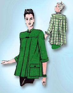 1940s Vintage Butterick Sewing Pattern 3524 WWII Misses Maternity Jacket Sz 32B #Butterick #MaternityJacketPattern