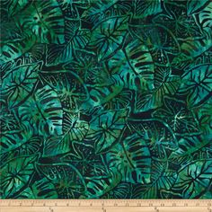 artisan batiks totally tropical fern leaves palm discount designer fabric fabriccom - Discount Designer Home Decor
