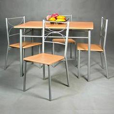 """Table A Manger Complet Ensemble """"Paul"""" 5 pièces table chaises résistants"""