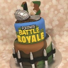Image result for Fortnite Birthday Cake 13th Birthday Boys, Teenage Boy Birthday, 13 Birthday Cake, 10th Birthday Parties, Birthday Ideas, Royal Cakes, Novelty Cakes, Cakes For Boys, Occasion Cakes