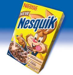 Nesquick cereal.....this was soooo good! BRING THIS BACK!!!!! please O:}