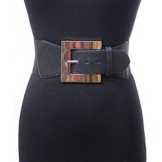 cool WOMEN ELASTIC Gold Metal BUCKLE WAIST Stretch Wide Belt Western Fashion Black - For Sale Check more at http://shipperscentral.com/wp/product/women-elastic-gold-metal-buckle-waist-stretch-wide-belt-western-fashion-black-for-sale-4/