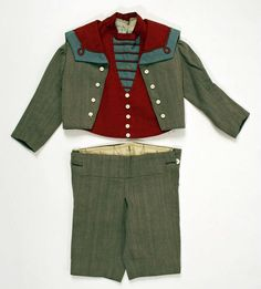 A very dashing boy's wool suit made in the US circa 1897.