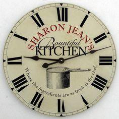 Custom kitchen clock by John Borin.  http://www.kitchenclocksbyjohnborin.com
